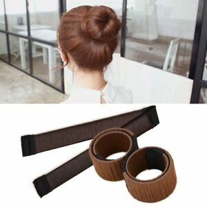 Hair Buds Donuts Twist Bun Band Magic Head Wig Maker Women Clip Tool Ball DIY US