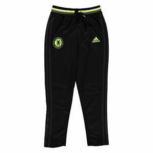 La imagen se está cargando Adidas-Chelsea-FC-Entrenamiento -Pantalon-Deportivo-Junior-Negro- db96f89862c23