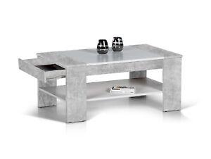 Details Zu Couchtisch Wohnzimmertisch 100x58 Ferda Sofatisch Loungetisch Beton Optik Weiss