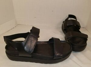 be5a33a268 NEW VAGABOND WOMEN S IRENE BLACK LEATHER STRAP SANDALS SIZE US 9 EUR ...