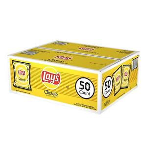 Lay-039-s-Classic-Potato-Chips-Case-of-50-Bags-Vending-1-oz-Singles-FREE-SHIPPING
