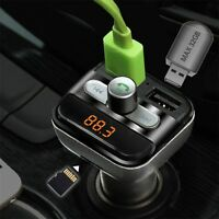 Car Mp3 Player Bluetooth FM Transmitter Car Kit LCD TF Dual USB Charger UR