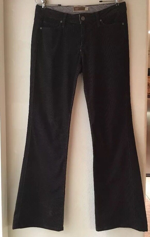Paige Hollywood Hills Embillished  Brown Corduroy Jeans 30 30 Made US