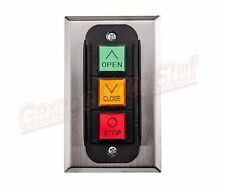 Commercial Garage Door Opener 3 Button Wall Mount PBC-3- 3 Control Station