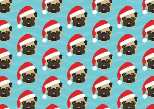 Santa Pugs Holidays Greeting Card