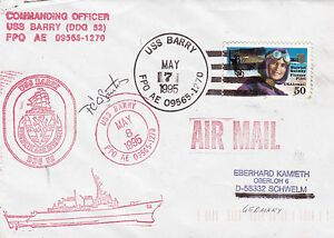 Details about GUIDED MISSILE DESTROYER USS BARRY DDG 52 A SIGNED SHIPS  CACHED COVER