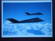 POSTCARD AIR LOCKHEED MARTIN F-117A STEALTH MODERN MILITARY AIRCRAFT