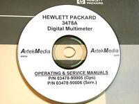 Hp 3478a Dm Operating & Service Manuals (2 Volumes)