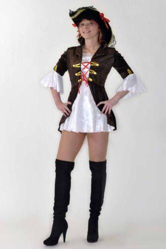 PIRATESSA dei bucanieri carnevale pirata Donna Costume quasi notte L//X fk12