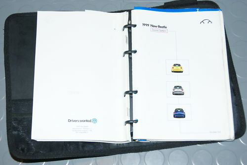 Set 1999 VW Volkswagon New Beetle Owners Manual