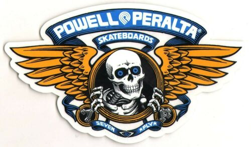 Winged Ripper Oval Blue old school new skate Powell Peralta Skateboard Sticker