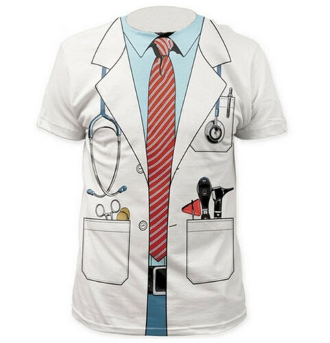 Womens//Mens Cosplay Doctor/'s Overall Funny 3D Print Casual T-Shirt Short Sleeve