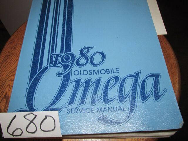 Oldsmobile 1980 Omega Original Service Repair Manual With