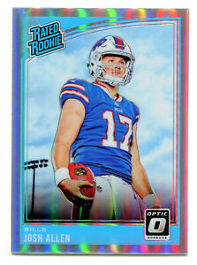 JOSH-ALLEN-2018-Panini-Donruss-Optic-Prizm-Holo-Silver-Rated-Rookie-Card-RC-SP