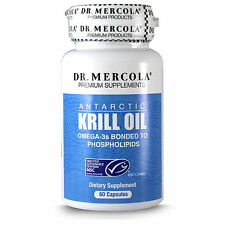 Krill Oil by Dr. Mercola 1000mg - Improved Alternative to Fish Oil - 60 Capsules