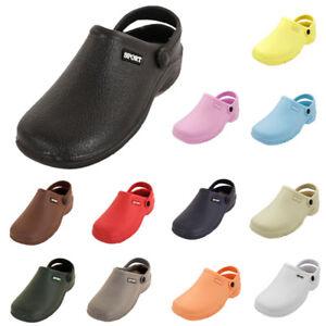 Womens-Clogs-Shoes-Garden-Water-Slip-On-Mule-Sandal-Rubber-Nurse-Outdoor-Classic