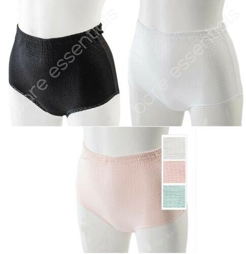 3//6//12 Ladies Angel Touch Crinkle Tunnel Elastic Brief Pants Knickers Made in UK