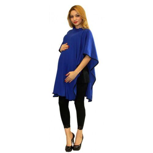 Blue Maternity Poncho Shawl Warm Winter Pregnancy Coverup S M L XL