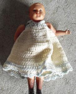 "Vintage 1930s USA Celluloid Odd Baby Boy Doll 4 1/4"" Tall"