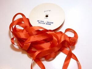 Orange-Couture-Reliure-x-100-Yards-rayonne-couture-reliure-sans-marque-Orange-Ruban