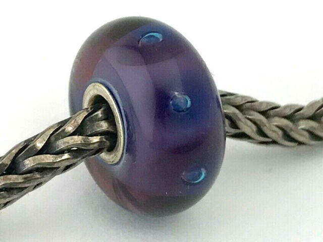 Authentic Trollbeads Glass 61198 Rose Ribbon
