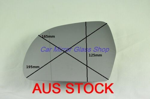 LEFT PASSENGER SIDE AUDI Q3 2012 onward MIRROR GLASS WITH HEATED BACK PLATE