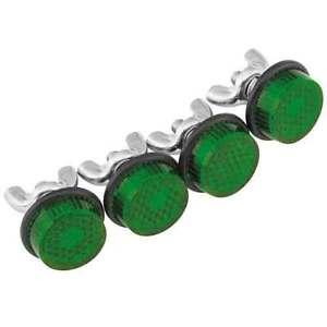 4-Tornillos-De-Perno-De-Etiqueta-De-Reflector-Mini-para-marco-de-matricula-de-motocicleta-Verde