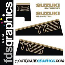 Suzuki DT115 outboard engine graphics/sticker kit (1982)