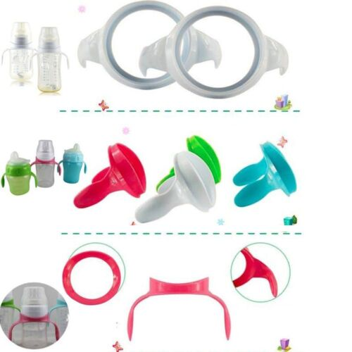 2 Pcs Safety Feeding Bottle Handles  Wide Mouth Feeding Milk Bottle Supply