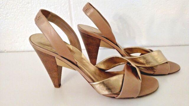 20919c22eed5 Kate Spade slingback Pumps gold and tan Heels US 8