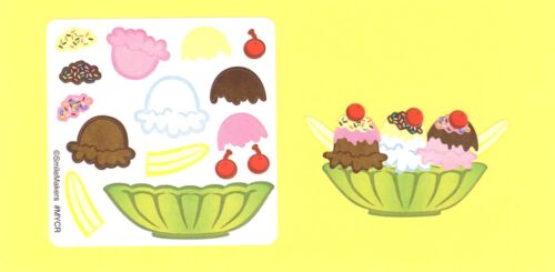 Party Favors 15 Make Your Own Ice Cream Sundae Stickers
