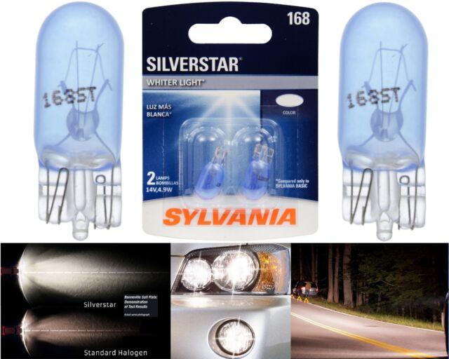 Sylvania Silverstar 168 4.9W Two Bulbs Front Side Marker Parking Stock Fit T10