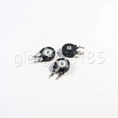 US Stock 10pcs Spain Potentiometer Hexagonal Hole Vertical Type 50K Ohm PT-10