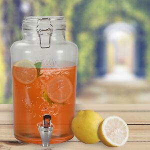 8L Getränkespende<wbr/>r mit Hahn ENJOY Dispenser Zapfhahn Zapfsäule Glaskanne Spender