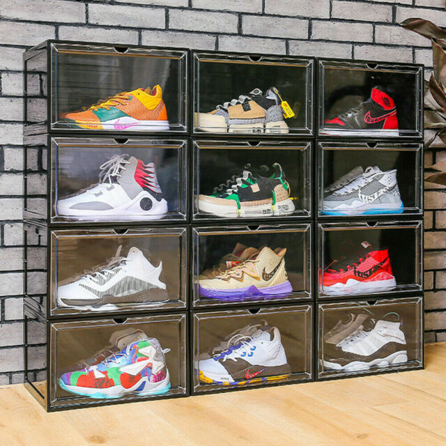 the container store drop front shoe box