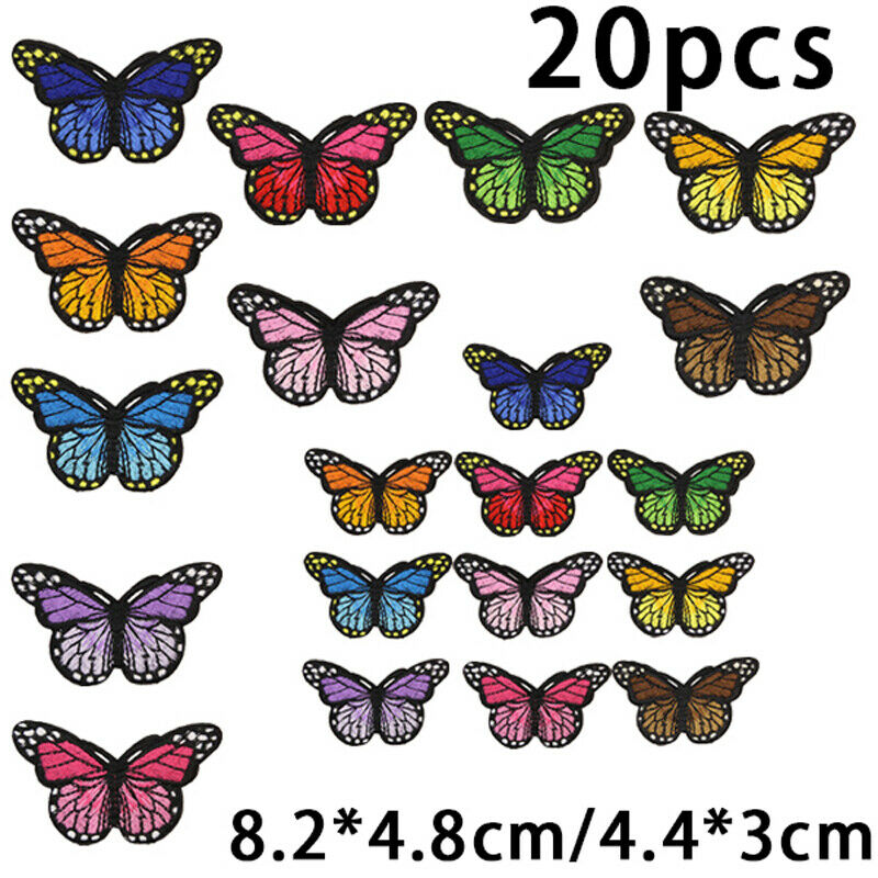 20pcs butterfly ironing patches Embroidered sewing ironing Decal garment Decal