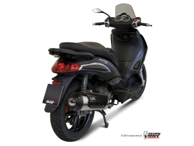 MIVV FULL SYSTEM EXHAUST 1X1 STAINLESS STEEL KAT PIAGGIO BEVERLY 250 2004 > 2007