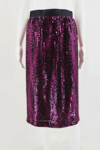 Escada-By-Margaretha-Ley-Pink-And-Black-Sequined-Skirt-Sz-38-US-8