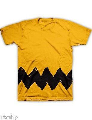 Authentic Peanuts Charlie Brown Costume Adult T-Shirt Tee S M L XL 2XL