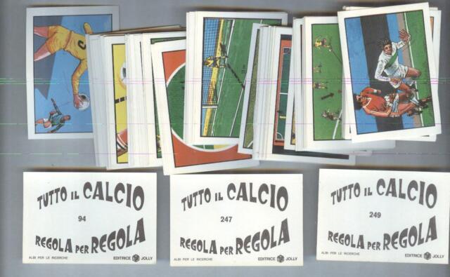 FIGURINE....CALCIATORI TUTTO CALCIO REGOLA PER REGOLA....ED. JOLLY....MANCOLISTA