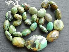 """HAND FACETED TURQUOISE NUGGETS, approx 11x12mm - 25x35mm, 21"""", 31 beads"""