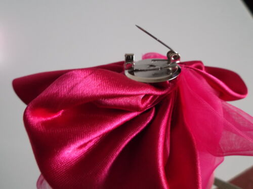 Rose Corsage Satin Organza WITH CLIP for any occasion projects Hair Wrist Crafts