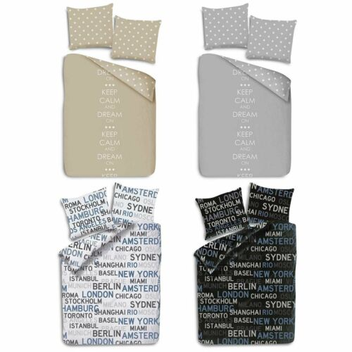 Microfaser Bettwäsche 135 x 200 cm 80 x 80 cm Kissenbezug Bettbezug Bettzeug