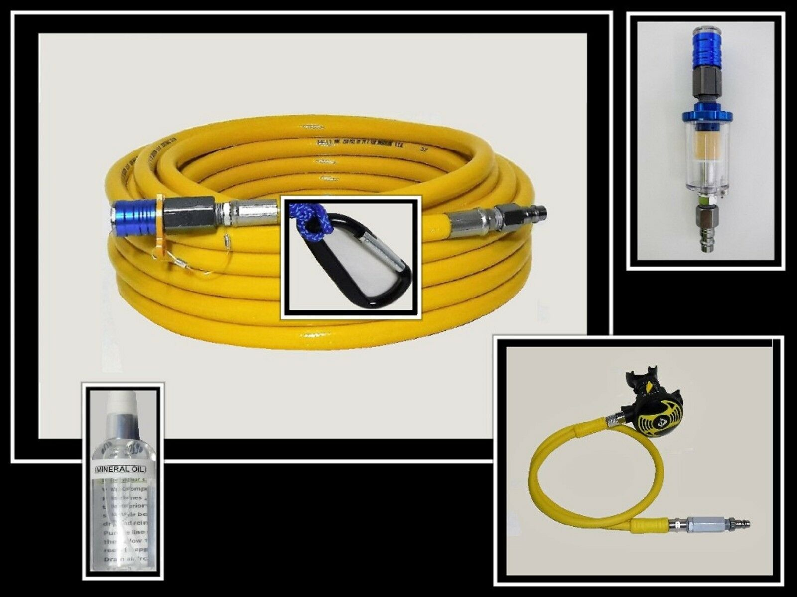 100' Universal Add-A-Diver Hookah kit w  filters and 2nd stage Cressi   LOBSTER