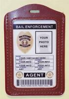 Bail Enforcement Agent Id Badge >customize With Your Photo & Info< Pvc Id Card