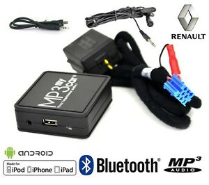 Interface-Bluetooth-MP3-AUX-pour-Renault-Clio-2-Clio-3-Megane-2-Laguna-2-Scenic