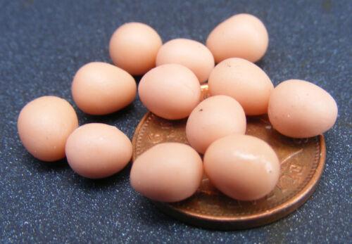 1:12 Scale 12 Brown Eggs A Dozen Tumdee Dolls House Food Chicken Accessory