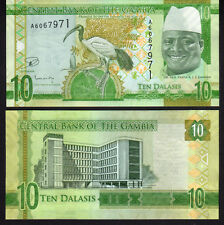 Gambia 10 Dalasis 2015 Pnew Mint Unc