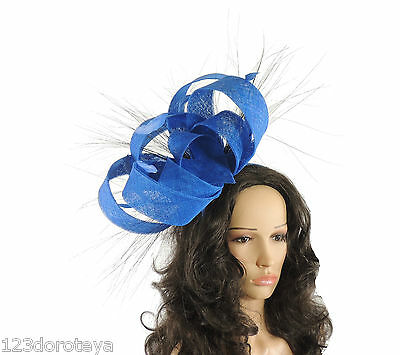 Ladies Sinamay Ascot kentucky Derby Fascinator Hat Headband R1