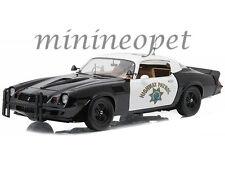 GREENLIGHT 12964 1979 CHEVY CAMARO Z28 1/18 CHP CALIFORNIA HIGHWAY PATROL POLICE